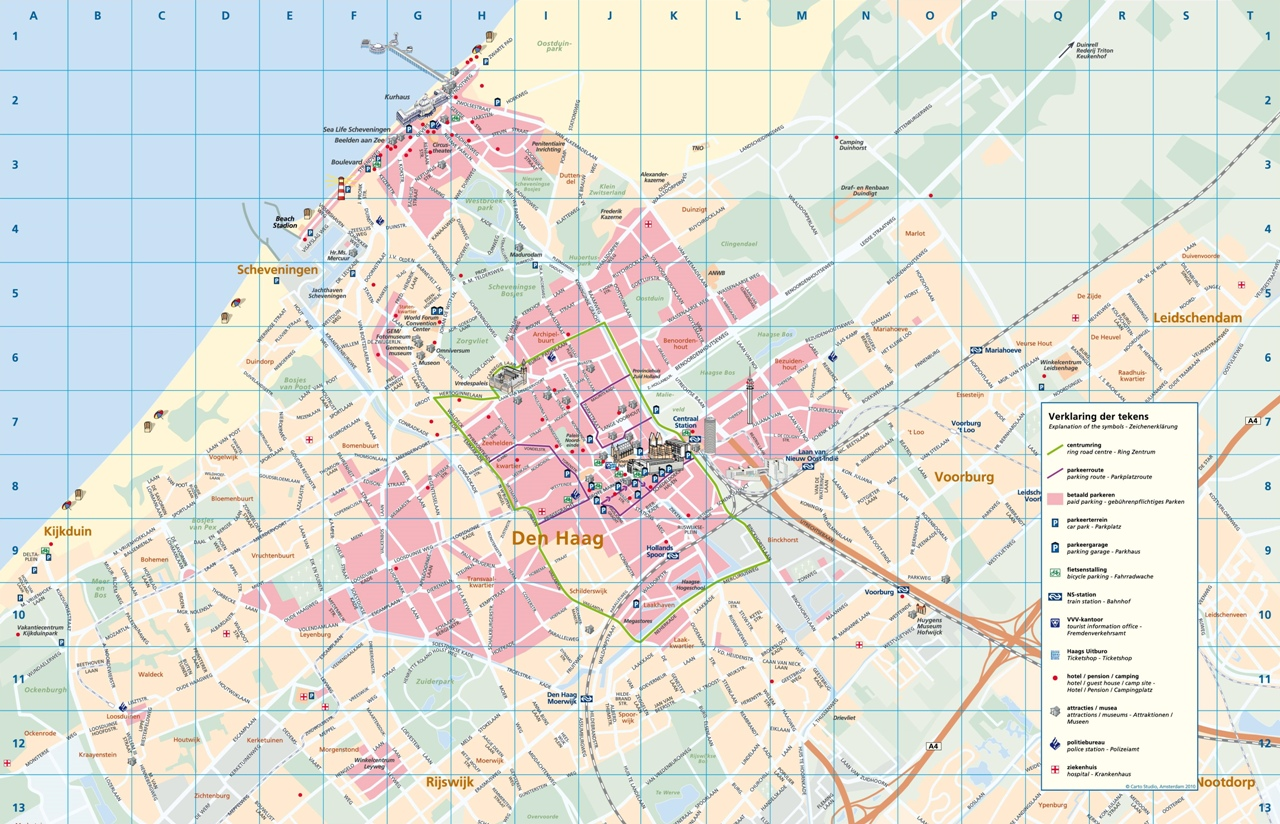 Map of The Hague